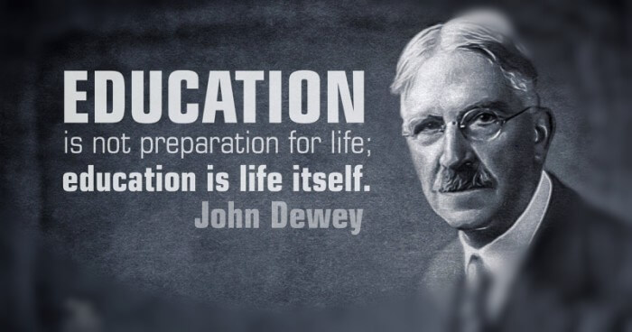 """the purpose of education for young children in light with john deweys educational philosophy """"the one continuing purpose of education, since ancient times,  other statements of educational purpose have also been widely accepted: to develop the intel-lect, to serve social needs, to contribute to the economy, to  —john dewey, """"individual psychology and education,"""" the philosopher, 12, 1934 1934."""