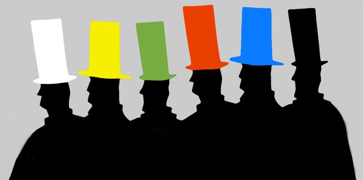Картинки по запросу 6 капелюхів прийом гра