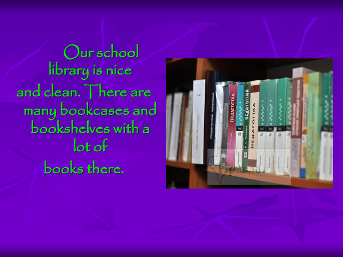 Our school library is nice 