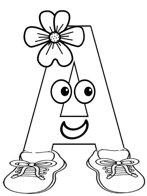 Прикольная картинка раскраска буквы, открытка шаблон