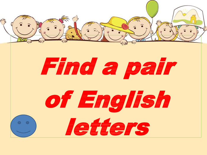 Find a pair of English letters