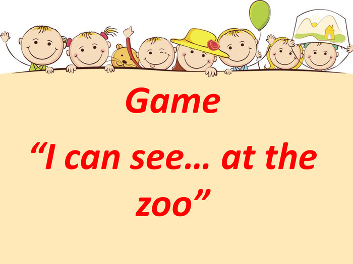 "Game ""I can see… at the zoo"""
