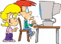 0511-1111-0813-0135_To_Kids_a_Brother_and_Sister_Using_a_Computer_clipart_image