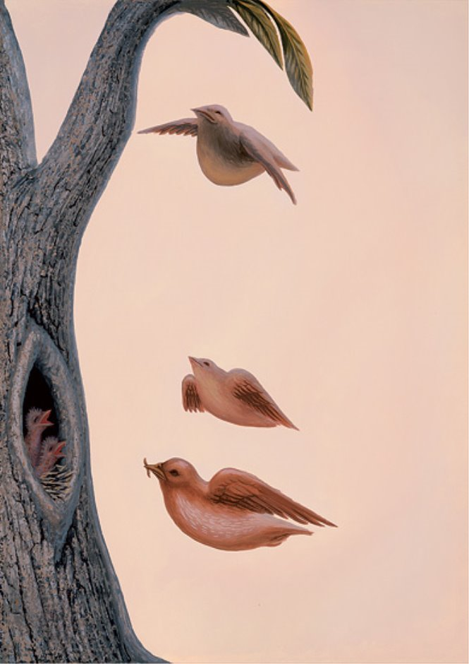 Рисунок про человека и птицу