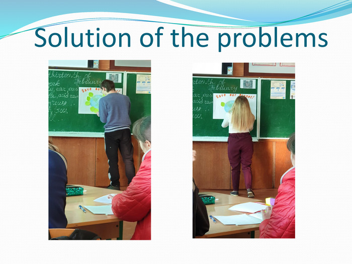Solution of the problems