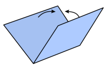 Origami Valley-fold.svg