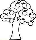 Hurry Apple Tree Coloring Page With Pages Image