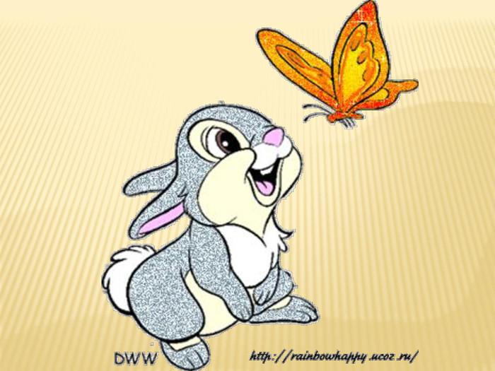 Зайка с бабочкой на носу картинки