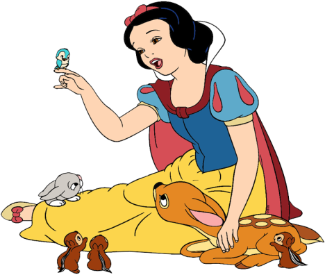 Clip art of Snow White singing to animals #snowwhite | Disney princess snow  white, Snow white art, Snow white tattoos