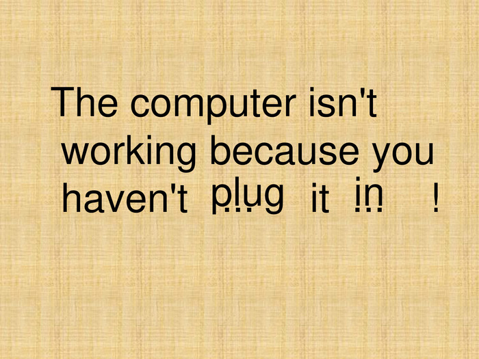plug in 