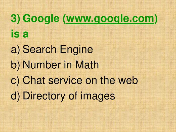 Google (www.google.com) 