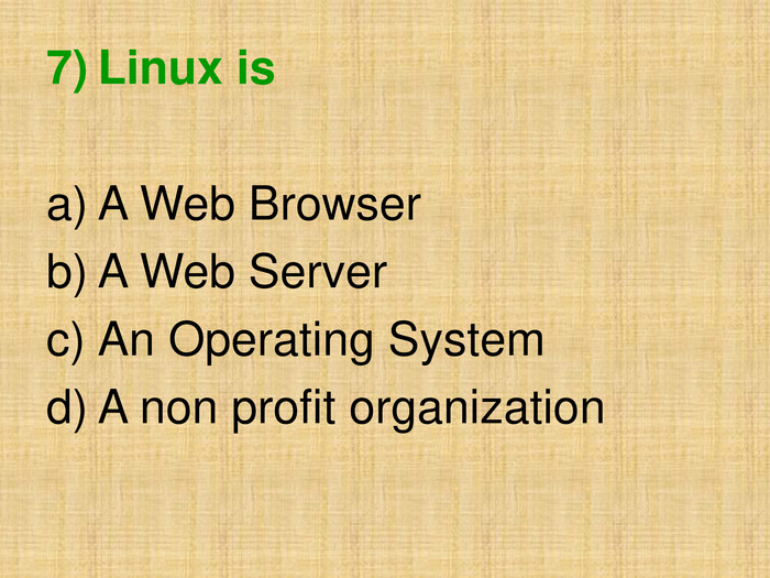 Linux is