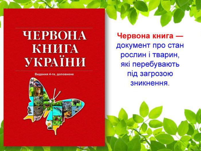 """Презентація """"Червона книга України"""""""