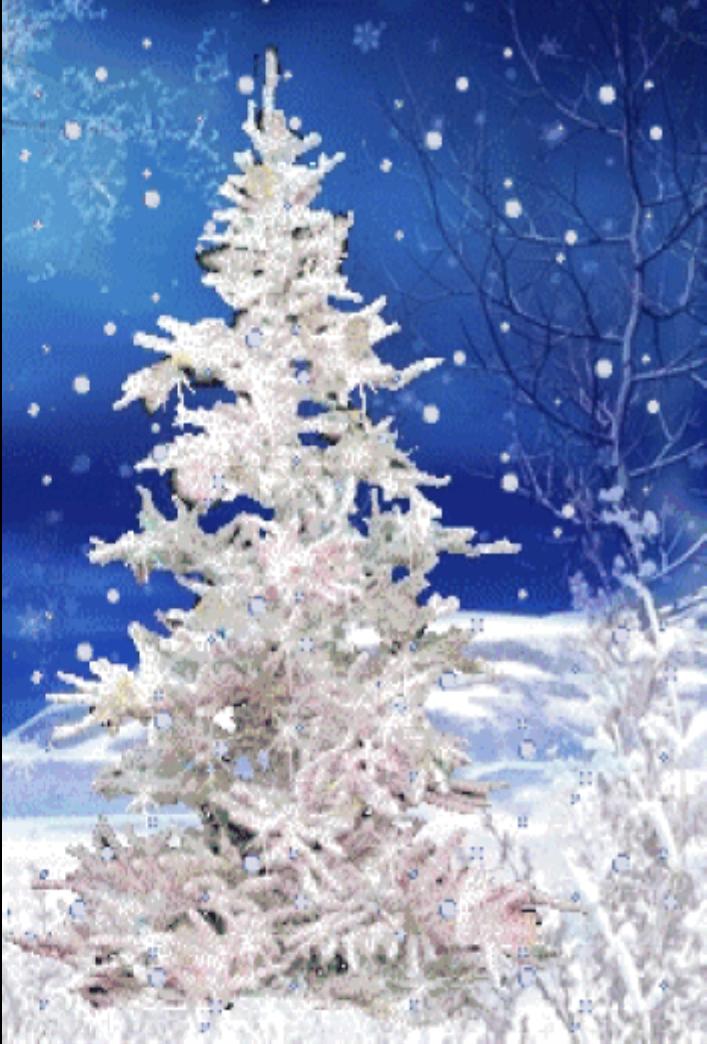 Гифка елочка в снегу