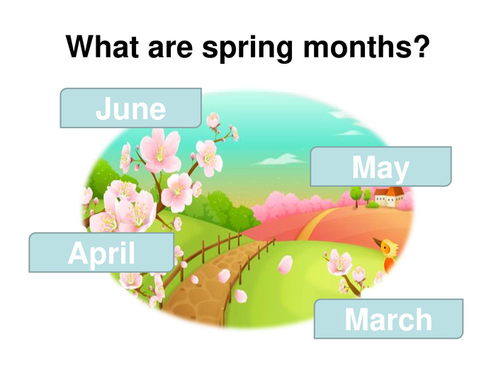 What are spring months? June May April March