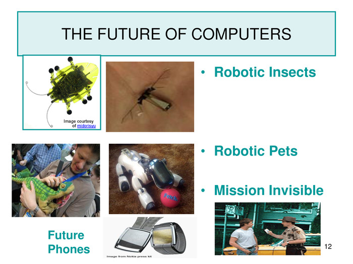 * THE FUTURE OF COMPUTERS Robotic Insects