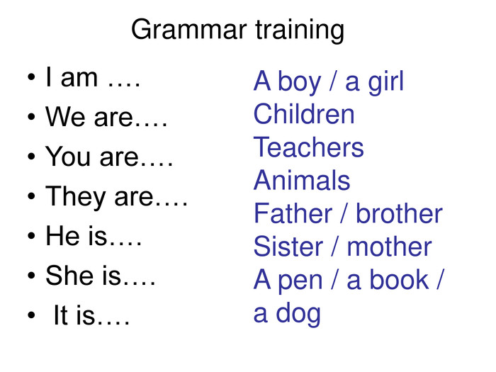 A boy / a girl