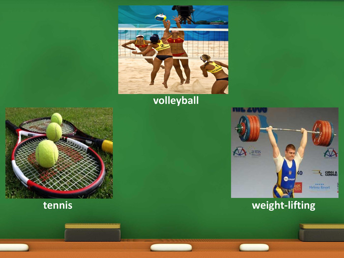 volleyballtennisweight-lifting