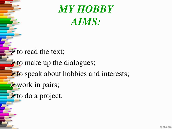 MY HOBBYAIMS: 