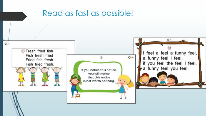 Read as fast as possible!