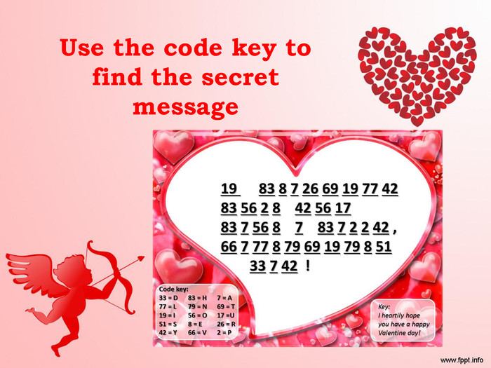 Use the code key to find the secret message