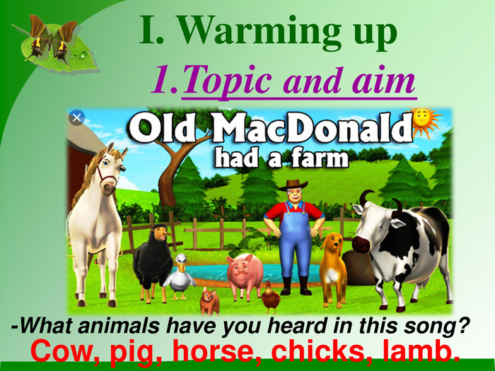 I. Warming up  