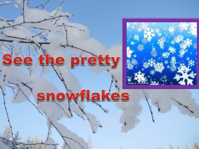 See the pretty snowflakes