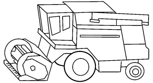фото, комбайн рисунок карандашом большому счету, предлагаемый