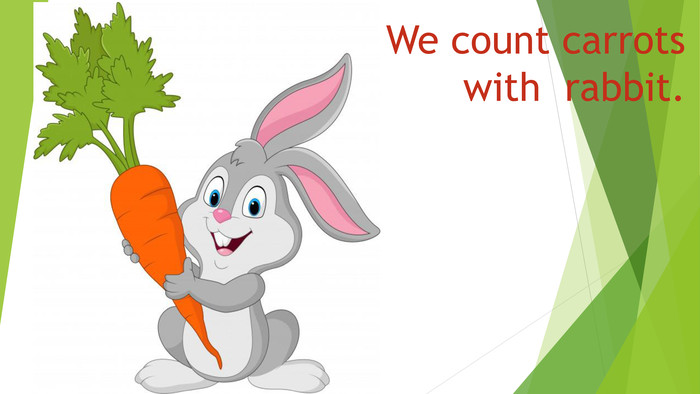 We count carrots with rabbit.