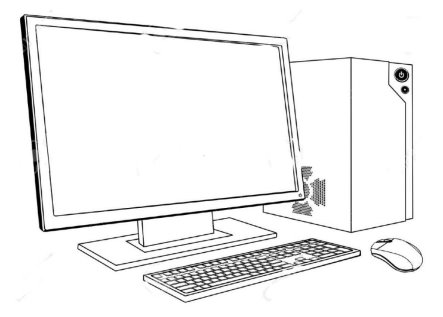 D:\дурдом 2\інформатика  для малечі\15537685-A-black-and-white-illustration-of-desktop-PC-computer-workstation-Monitor-mouse-keyboard-and-tower-Stock-Vector.jpg