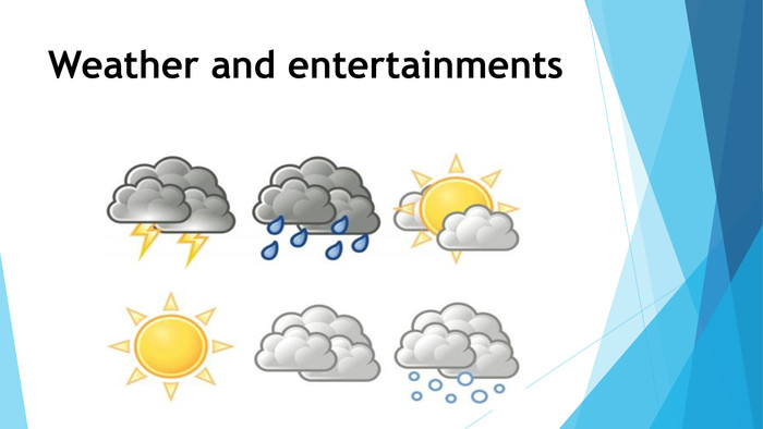Weather and entertainments