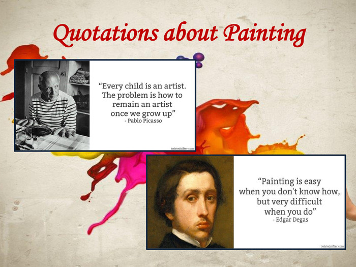 Quotations about Painting