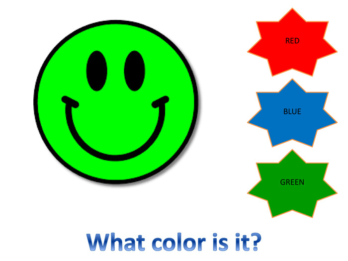 REDBLUEGREENWhat color is it?