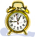 Old-Fashioned Brass Alarm Clock - Royalty Free Clipart Picture