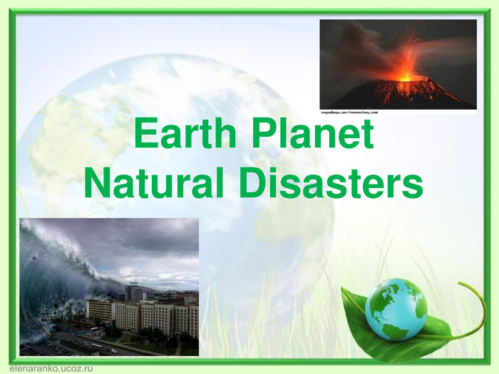 Earth PlanetNatural Disasters