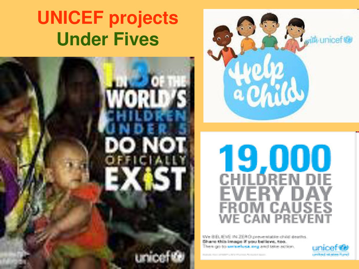 UNICEF projects Under Fives