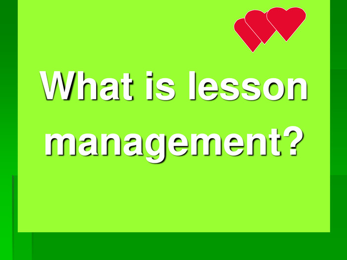 What is lesson