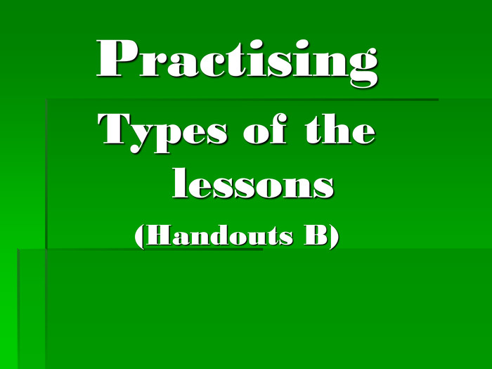 Practising 