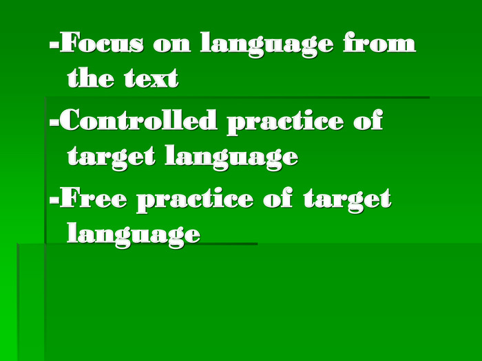 -Focus on language from the text
