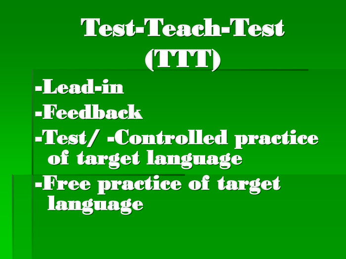 Test-Teach-Test