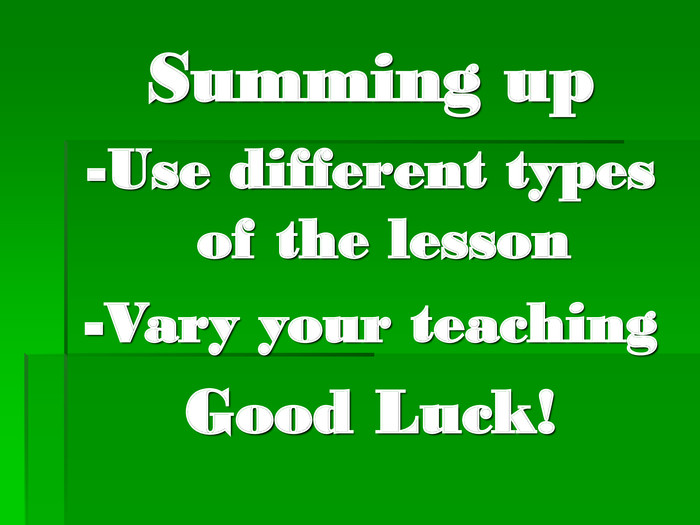 Summing up