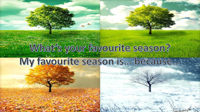 What's your favourite season?My favourite season is… because…
