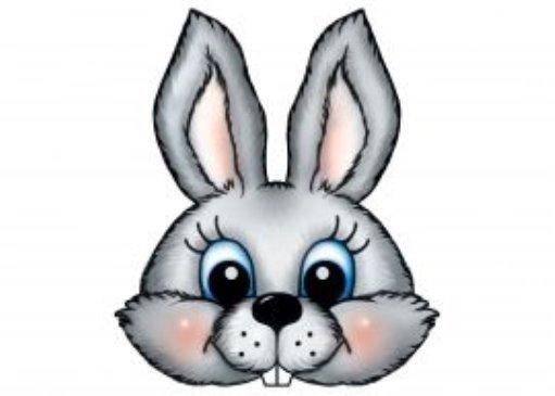 Маска зайца для подвижных игр картинка