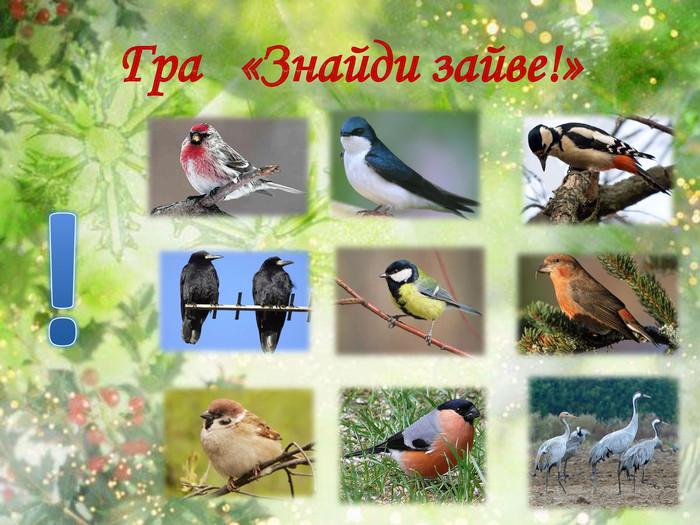 """Презентація до інтегрованого уроку """"Птахи восени. Осілі та ..."""