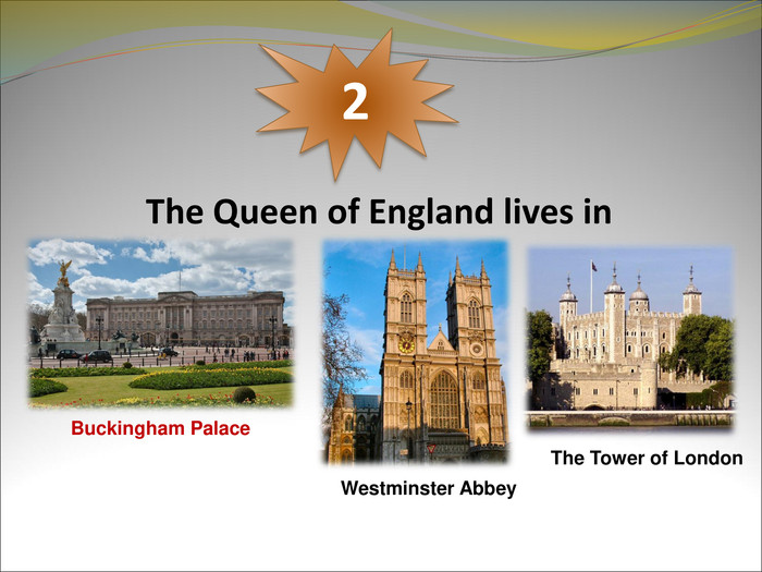 The Queen of England lives in 