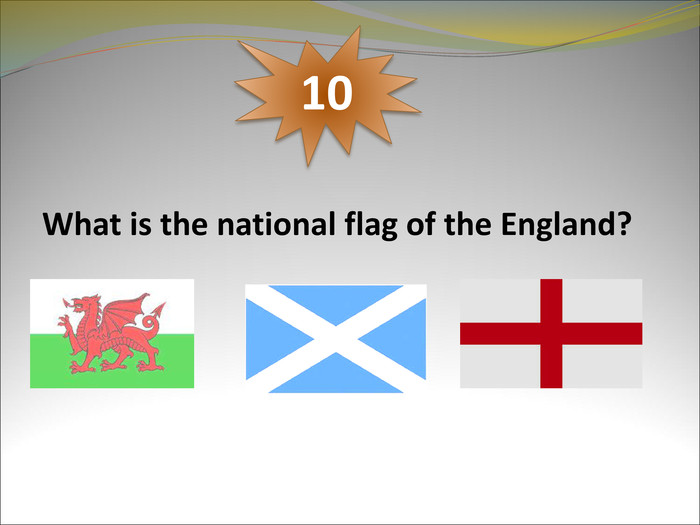 What is the national flag of the England? 