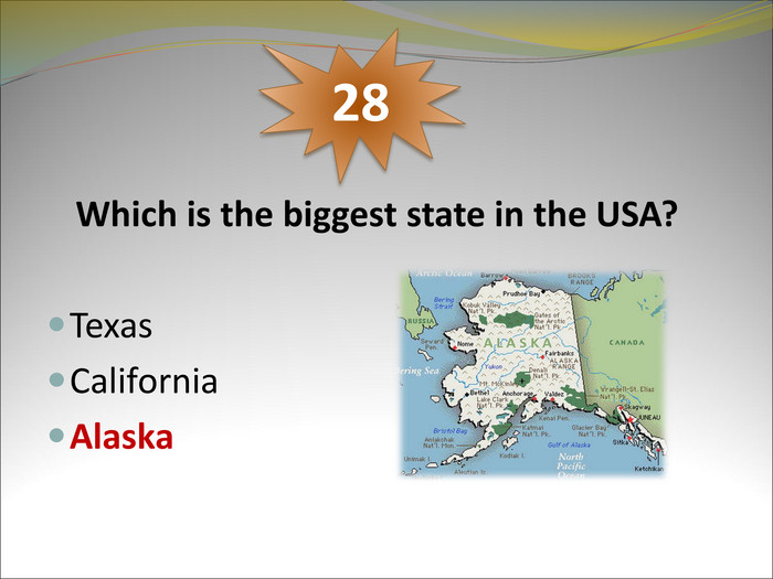 Which is the biggest state in the USA?