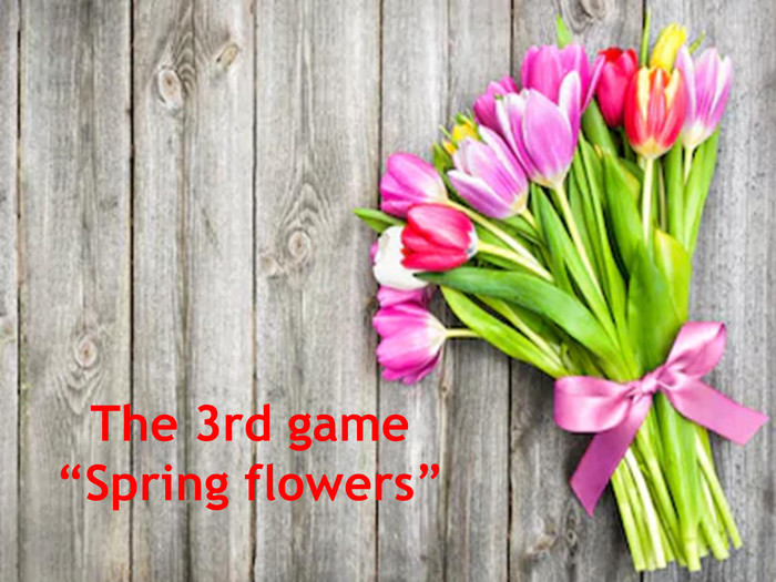 "The 3rd game ""Spring flowers"""