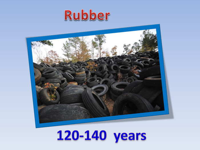 Rubber120-140 years