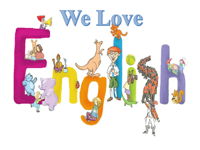 Image result for we love english clipart